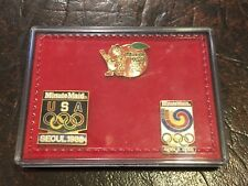 1988 Seoul Minute Maid Olympic Sponsor 3 Pin Set