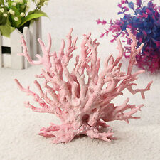Aquarium Artificial Plastic Fake Light Pink Coral Fish Tank Ornament Decoration