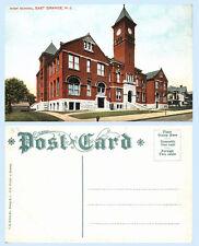 High School Building East Orange New Jersey c1909 Clock Postcard - Architecture