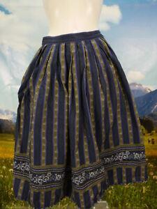 Trachtenrock blau Baumwolle Bordüre Streifen wunderbare Trachten Rock Gr.40