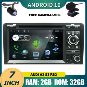Car Stereo For Audi A3 S3 RS3 Android 10.0 GPS Radio DVD/CD Head Unit Car Play