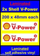 Laminated W 2x Shell V-Power Racing Motorcycle car decals van truck slot sticker
