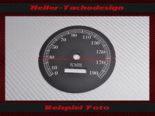 Tachoscheibe Harley Davidson Softail Springer FXSTS 1996 Ø100 Mph zu Kmh Speedo