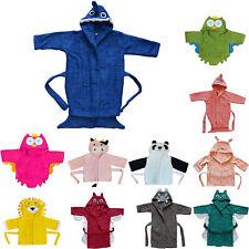 Bomio Baby Kinder Kinderbademantel Frottee Bademantel Pyjama Kaputze