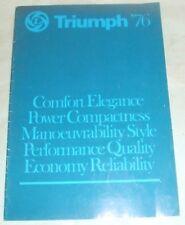 Triumph 1976 Brochure Promoting Models In The Range.