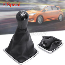 5 Speed Gear Stick Shift Knob Gaiter Gaitor Boot Cover Fit For Ford Focus MK II