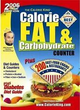 NEW Calorie, Fat & Carbohydrate Counter (The Calorie King) Allan Borushek
