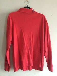 Pringle Sports Red Pink Men's High Neck T Shirt Turtle Neck Tee Size M