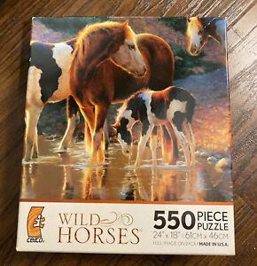 Ceaco Wild Horses 550 Piece Puzzle Called Night Cap