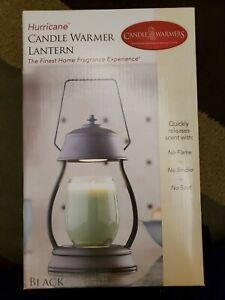 NEW Candle Warmers Etc.,  Hurricane Candle Warmer Lantern, Matte Black