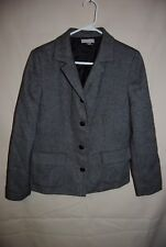 Women's NORDSTROM Black White Wool Blend Blazer Size 8P