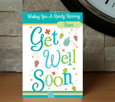 Personalised Get Well Soon Card - Friend, Hospital, Illness, Operation, Recover