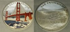 Golden Gate Bridge Silver Coin San Francisco Alcatraz Prison Americana Bay Medal