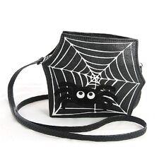 Cute Little Spooky Spider Web Crossbody Bag Purse Sleepyville Critters Handbag
