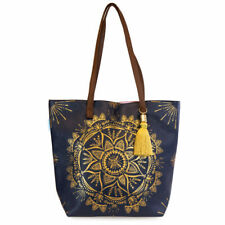 Papaya E0 Women's Art Travel 17x14.5in Bucket Tote Bag - Gilded Mandala