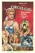 Circus Girl Filmposter Original 1953 Gefalteter 27x41 Schön Tiger Kunst