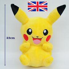 """POKEMON Pikachu Happy smile 9"""" 23cm Soft Plush Toy Doll Teddy Kids Gift"""