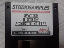 KURZWEIL ~ OVATION 6 STRING ACOUSTIC GUITAR ~ 1 Floppy K2XXX w/VAST PROGRAMMINGS
