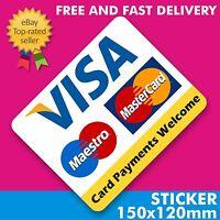 Pagamento minimo £ 10 Adesivo Mastercard Visa//CartaSì vinile stampato senza contatto 130x70mm