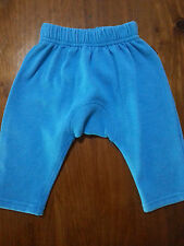 BONDS Slouch Cotton  Fleece TRACK PANTS Blue No Cuff Elastic Waist Size 00 VGUC