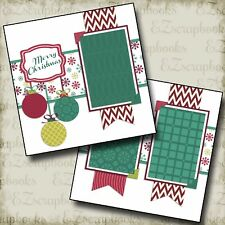 CHRISTMAS BANNERS - 2 Premade Scrapbook Pages - EZ Layout 567