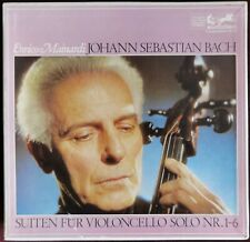Rare Original Mainardi Bach Cello Suites 4LP Box Eurodisc Gray Labels German ED1