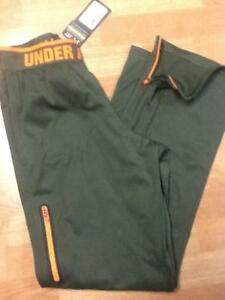 Under Armour UA Combine Warm Up Run Training Pants - Green - Small - NWT