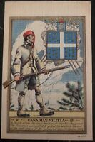Mint USA French Indian War Picture Postcard The Canadian Militia