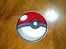 3D Pokemon Ball Patches Embroidered Cloth Applique Badge Iron Sew On Pikachu