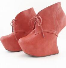 Rouge Helium Pink Heel Less Platform Booties Women's Size US6.5 UK4.5 EU37.5