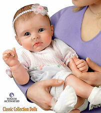 "Ashton Drake ""OLIVIA'S GENTLE TOUCH"" - INTERACTIVE LIFELIKE BABY GIRL DOLL - NEW"