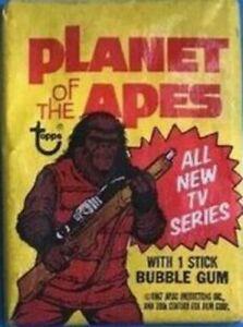 Planet Apes Heston Mcdowall Topps Card Pack Series TV Movie Battle Bazooka Gum X