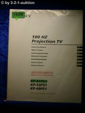 Sony Bedienungsanleitung KP 61PS1 /53PS1 /48PS1 Projection TV (#1600)