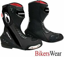 Richa DRIFT Black Sports Motorcycle Boots all sizes available + FREE PAIR SOCKS