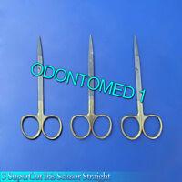 "3 SuperCut Iris Scissor Straight 4.5"" Surgical Instruments"