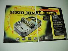 Beastie Boys Rare 2-Piece 1999 Promo Ad Hello Nasty
