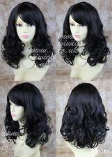 Wiwigs Stunning Black Brown Blonde Curly Medium Skin Top Ladies Wig