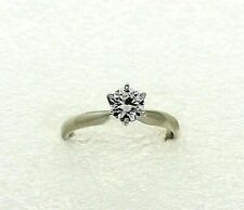 1/2 ct Diamond Engagement Ring REAL Solid 14 kw White Gold 2.2 g size 4.5