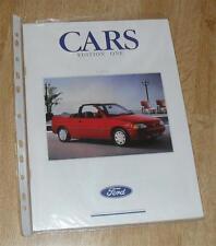 FOLLETO de Ford 1991 Sierra 2000E Escort Cabriolet Fiesta S XR2I Granada Scorpio