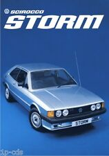 Original Scirocco tormenta VW MK 1 cartel impresión Volkswagen Ltd Ed Rara Marca 2 GTI