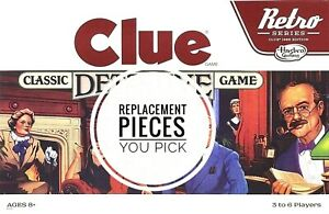 Clue Retro 1986 Board Game Replacement Pieces and Parts - Pick New or Used