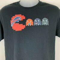 Buffalo Bills Pac-Man Large T Shirt NFL Football AFC East Video Game Graphic Tee