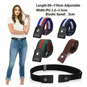Unisex Buckle-Free Elastic Belts Invisible Belt For Jeans Dress No Bulge Hassle