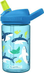 Camelbak EDDY+ KIDS 14oz Water Bottle Sharks&Rays Blue BPA Free