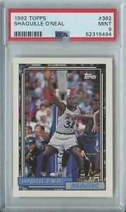 Shaquille O'Neal 1992 93 Topps Basketball #362 Orlando Magic RC Rookie PSA 9