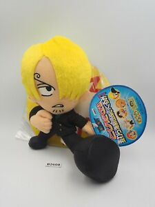 "Sanji One Piece B2608 Banpresto 2003 Plush 7"" Stuffed TAG Toy Doll Japan"