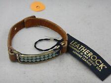 NWT Leatherock Genuine Leather Bracelet With Swarovski Crystals