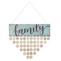 FAMILY Birthday Reminder Board Hanging Plaque DIY Wooden Calendar Wall Decor