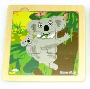 9 Pcs Wooden Australian Animal KOALA Jigsaw Puzzle Toddler Kids Toy KaperKidz