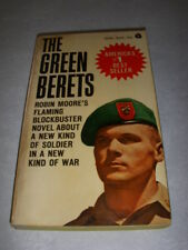 THE GREEN BERETS by ROBIN MOORE, AVON #N128, 1ST, 1965, PB, SPECIAL FORCES!
